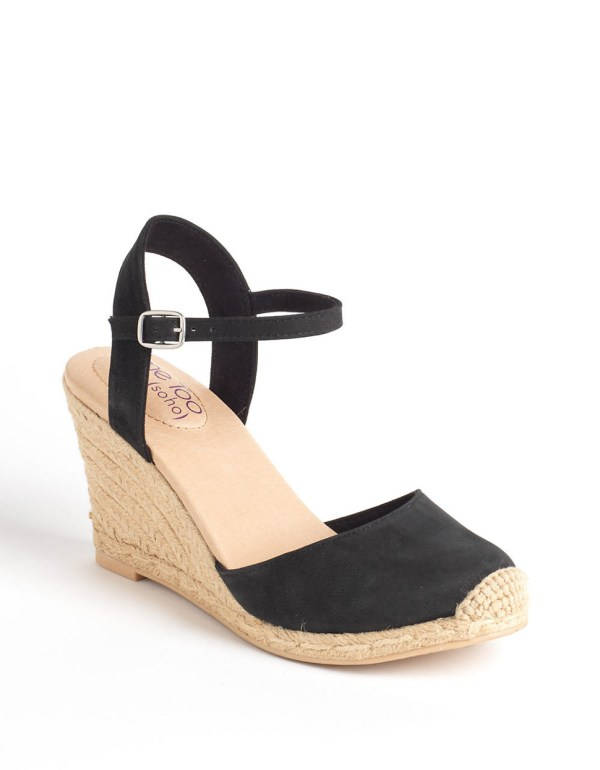 Bethany Leather Wedge Platform Pumps In Black Lyst