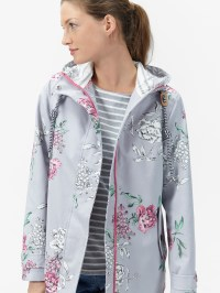 Joules Right As Rain Coast Floral Print Waterproof Jacket ...