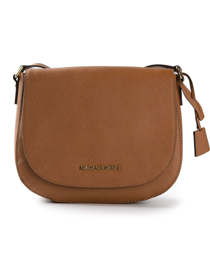 monogrammed leather messenger bag