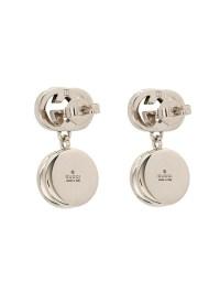 Lyst - Gucci Crystal-Embellished Logo Earrings in Metallic