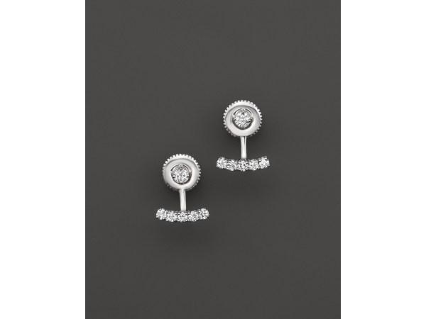 Kc Design Diamond Bar Earring Jackets With Studs In 14k
