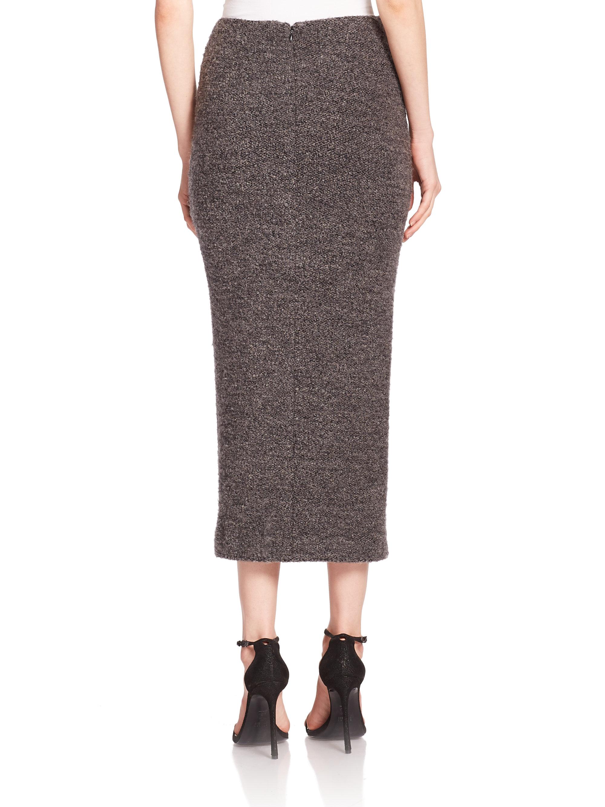 Lyst Elizabeth And James Eliza Midi Skirt In Gray