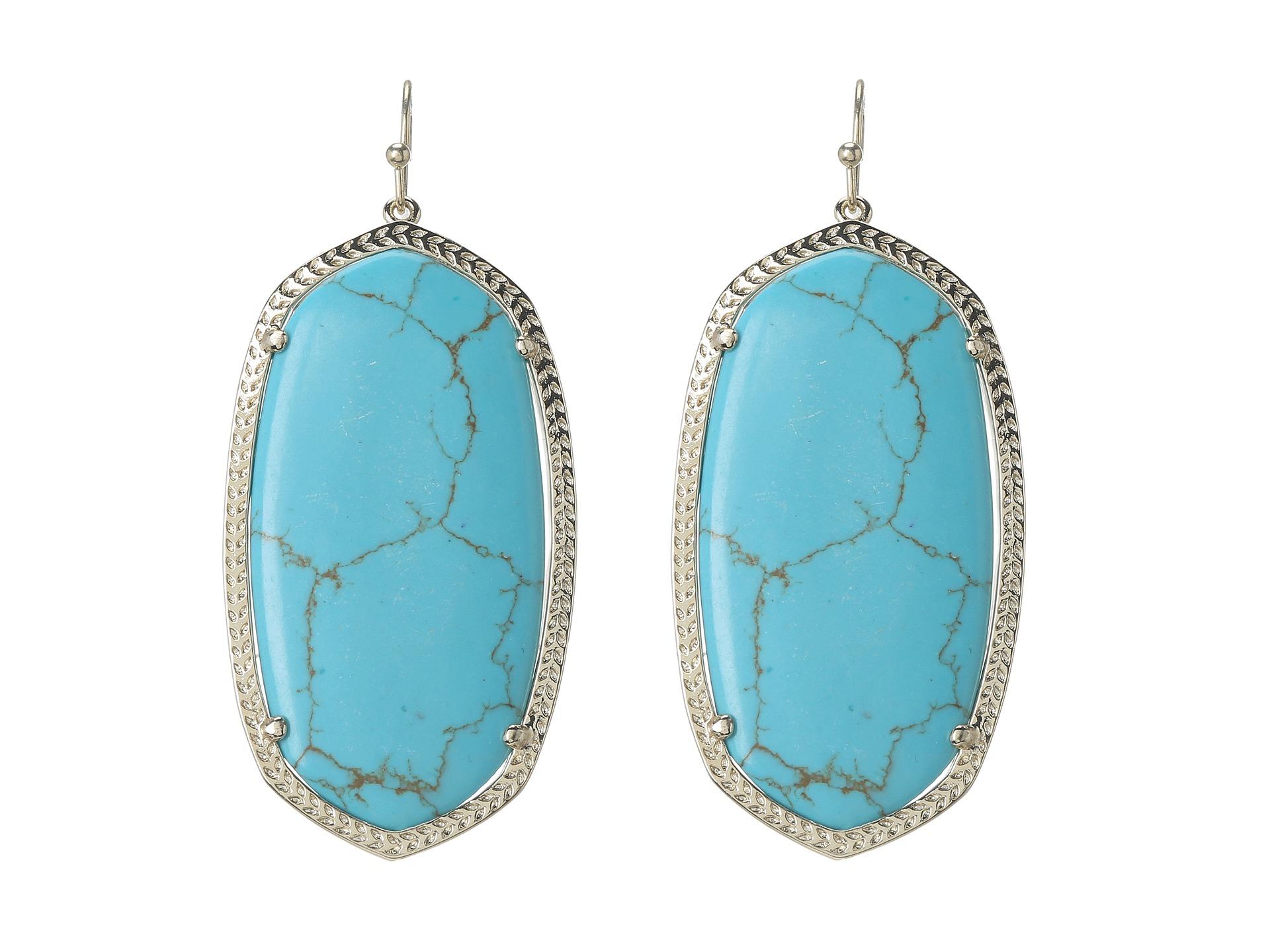 Kendra Scott Danielle Earrings in Blue (Turquoise)
