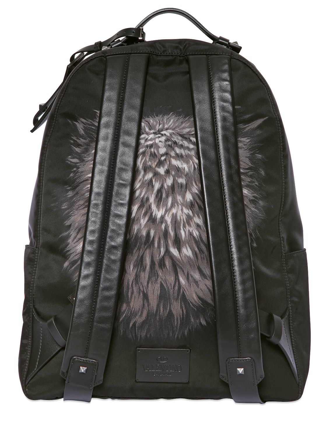 Lyst  Valentino Wolf Print Backpack in Black for Men
