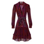 Purple Silk Dress Diane Von Furstenberg