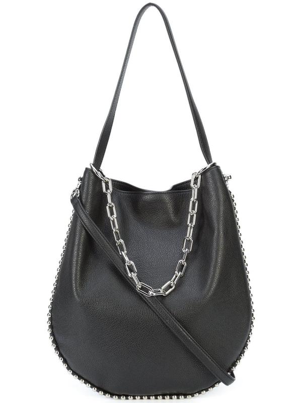 f5f957309683 Alexander Wang Roxy Hobo Shoulder Bag In Black Lyst ...