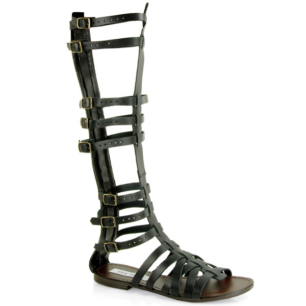 Lyst - Steve Madden Sparta Tall Gladiator Sandal In Black