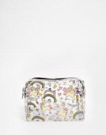 Lyst - Asos Unicorn And Rainbow Clear Make Bag