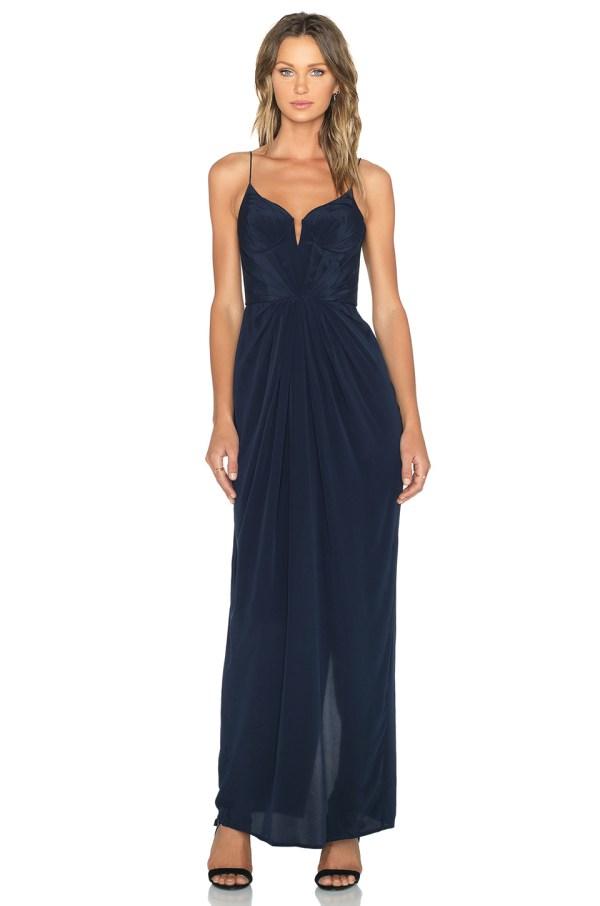 Zimmermann Balconette Maxi Dress In Blue - Lyst