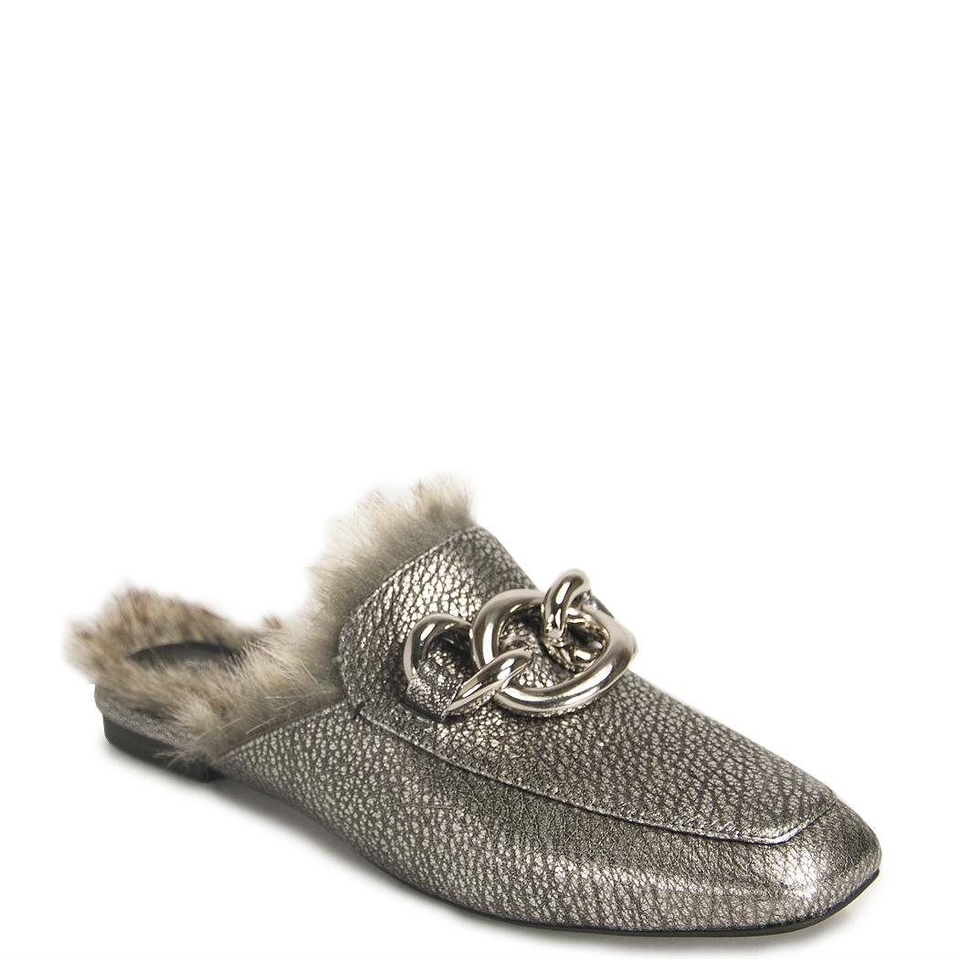 Silver Mules Buckle