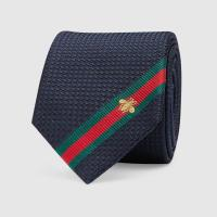 Lyst - Gucci Silk Tie With Bee Web in Blue for Men