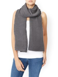 Accessorize Lola Ribbed Scarf in Pink | Lyst