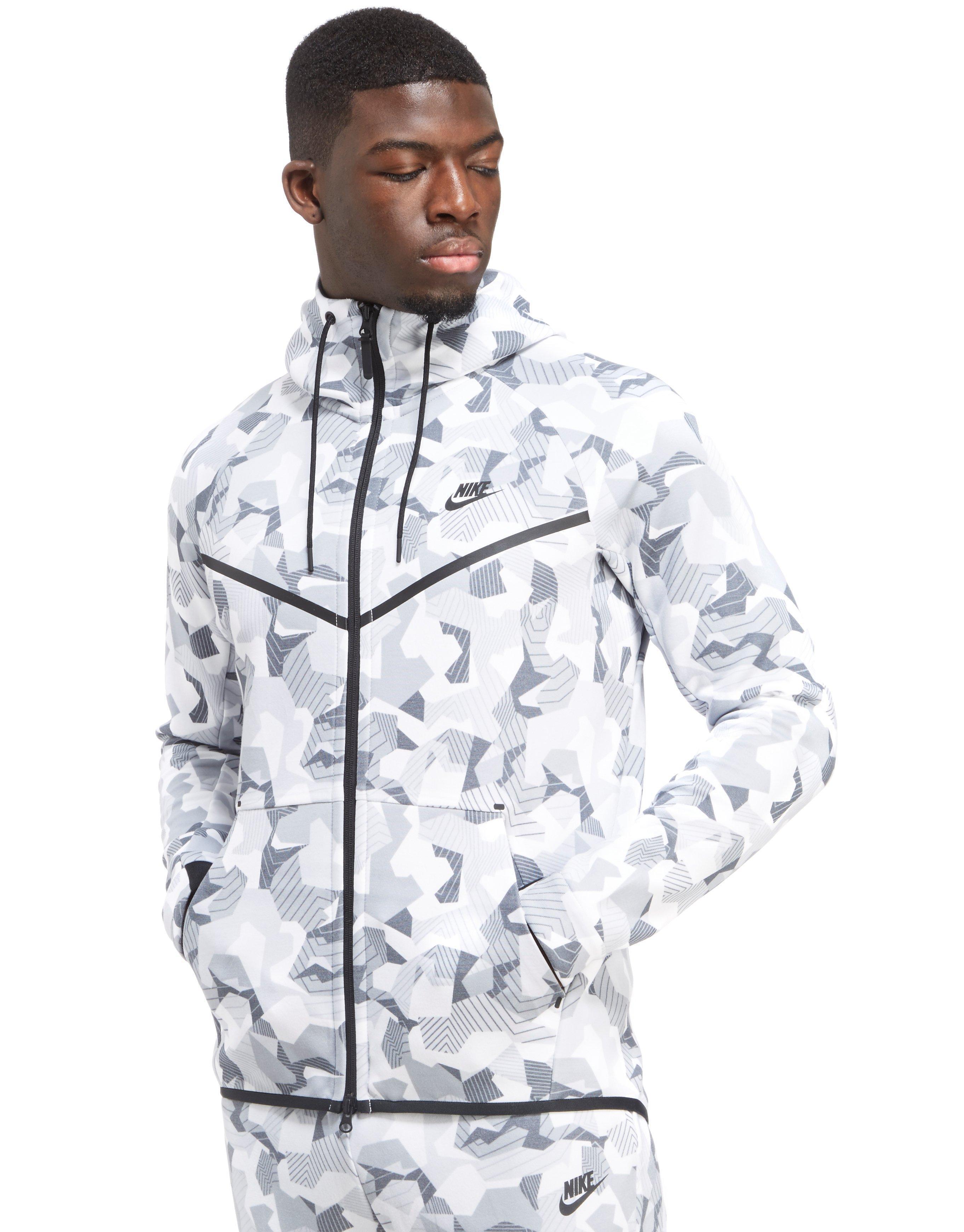 402825465cbc30 Lyst Nike Tech Camo Fleece Windrunner Hoody In White For Men
