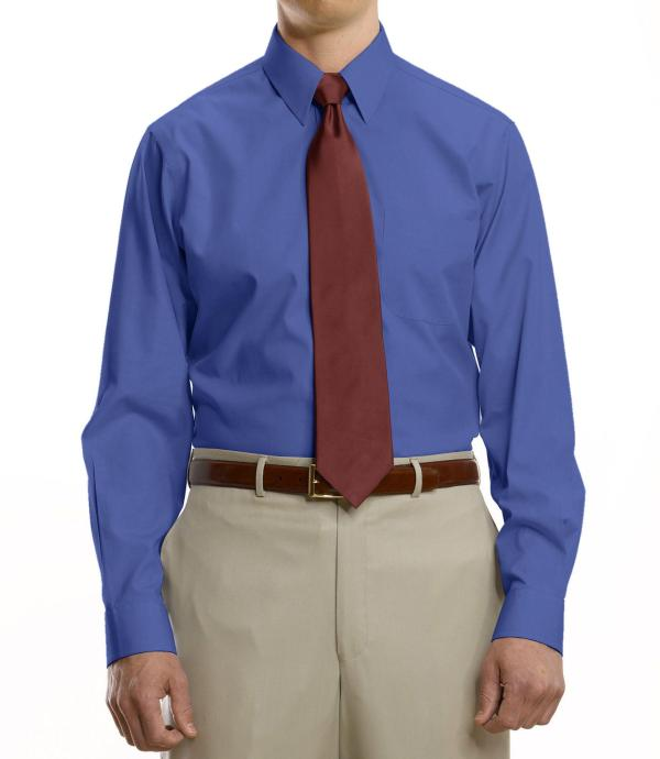 Jos. . Bank Traveller Collection Tailored Fit Point Collar Dress Shirt - Big & Tall In Blue