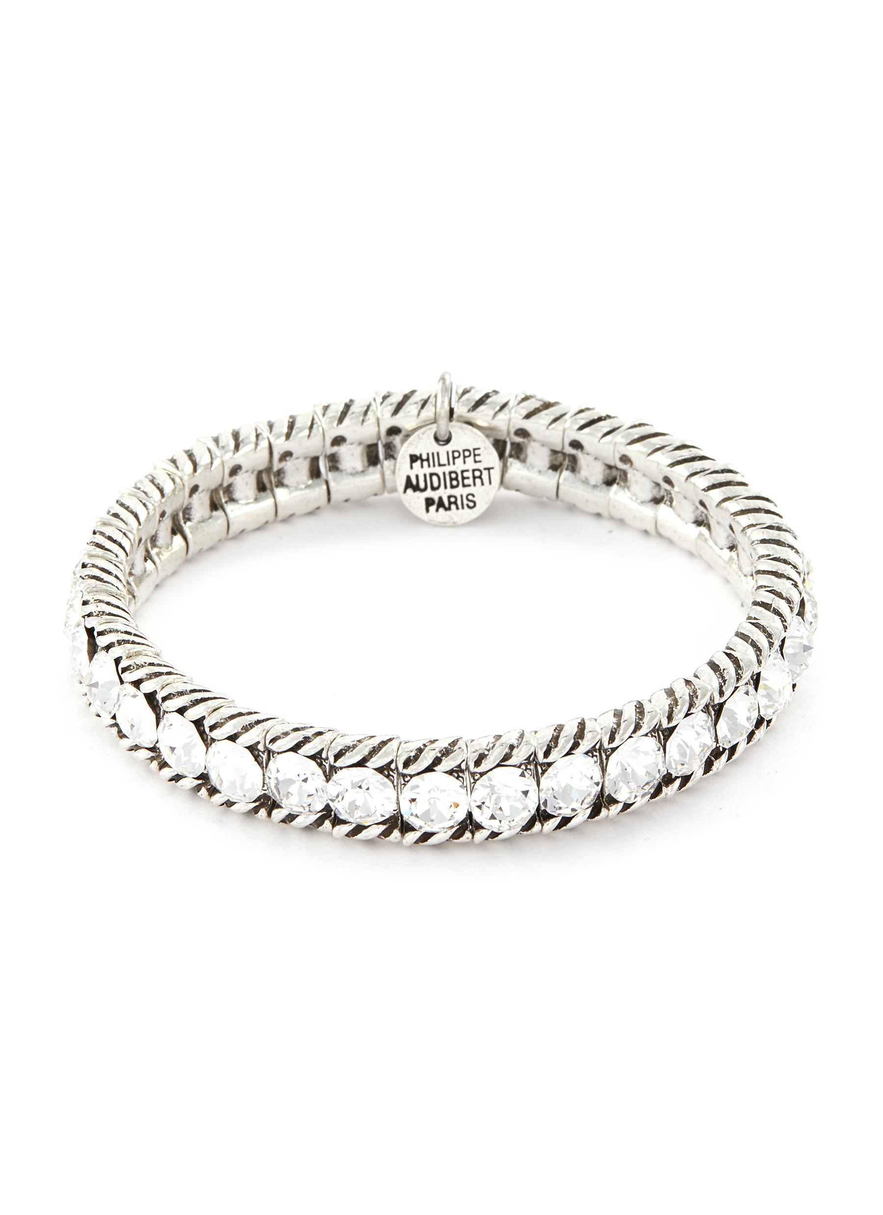 Philippe Audibert Silk 'anita' Swarovski Crystal Bracelet
