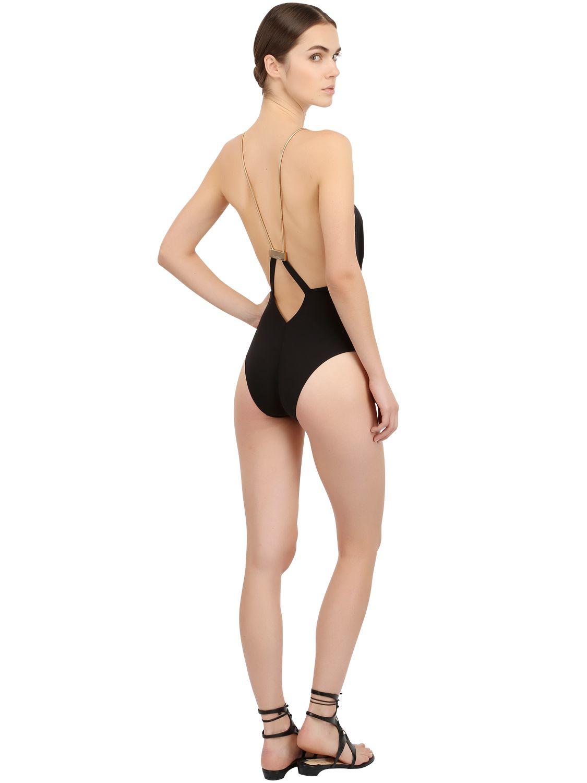 Lyst La Perla One Piece Swimsuit W Metal Chain Straps