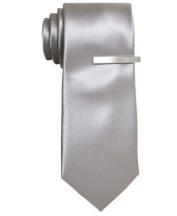 "Lyst - Alfani Tie, 2-3/4"" Solid Skinny Tie With Tie Bar in ..."