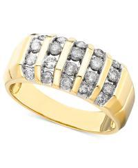 Macy's Men's Diamond Ring In 14k Gold (1 Ct. T.w.) in