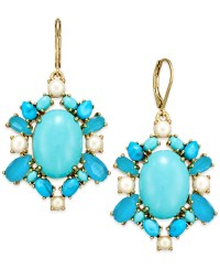 Lyst - Kate Spade New York 14k Gold-plated Blue Bead And ...