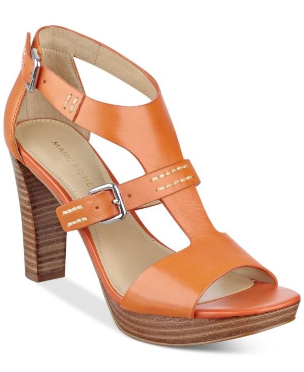 Marc Fisher Tatyana Platform Sandals In Brown Orange Lyst