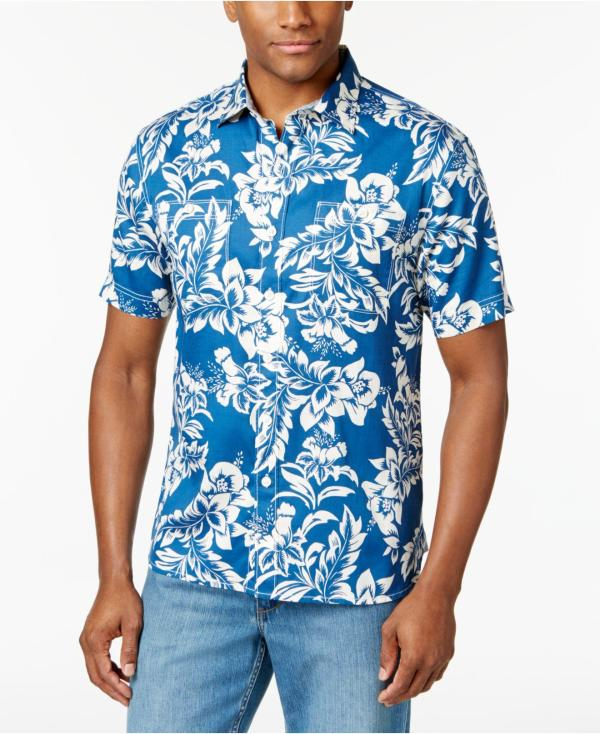 Lyst Tommy Bahama Men39s Fiesta Flora Shirt in Blue for Men