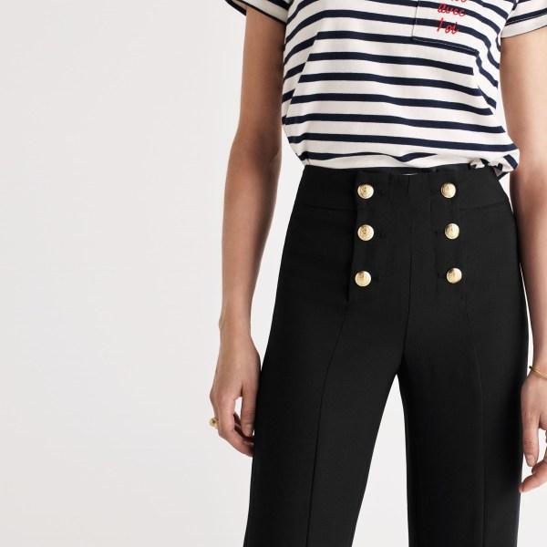 Madewell Zane Sailor Pants In Black Lyst