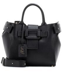1d14e5e153ba Roger Vivier Pilgrim De Jour Small Leather Shoulder Bag In
