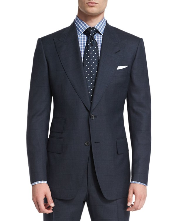 Tom Ford Windsor Plaid Two-piece Wool Suit In Black Men Lyst