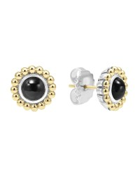 Lagos 6mm 18k Caviar Stud Earrings in Black   Lyst