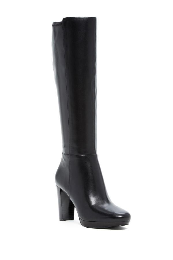 Lyst - Nine West Stretch Shaft Boot In Black