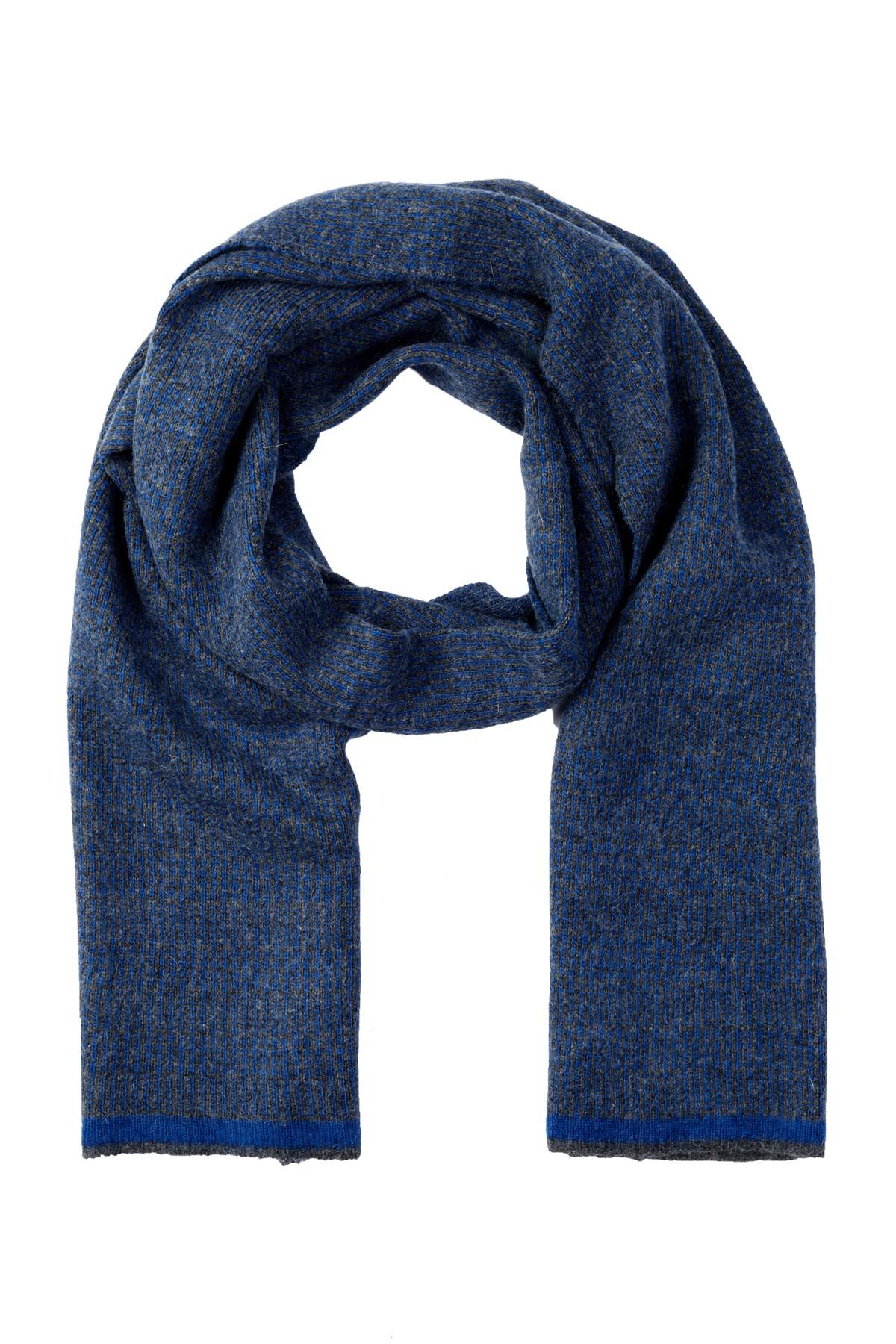 Portolano Melange Knit Scarf In Blue