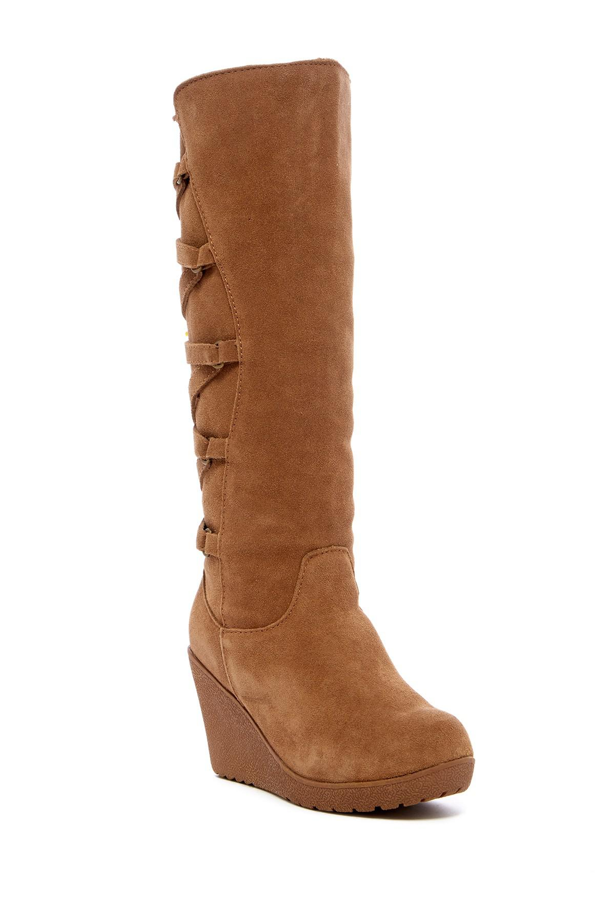 3c7b24a0f4a Bearpaw Wedge Boots - Ivoiregion