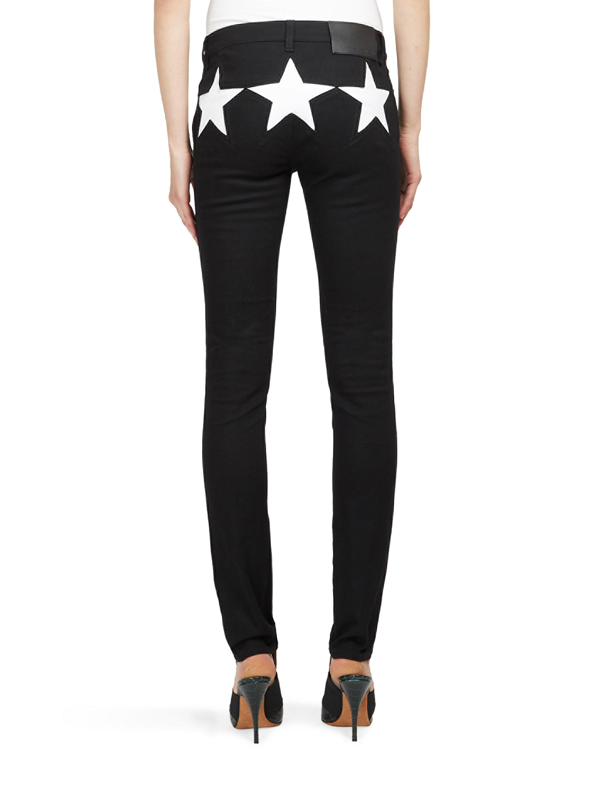 Lyst Givenchy Star Print Detail Jeans In Black