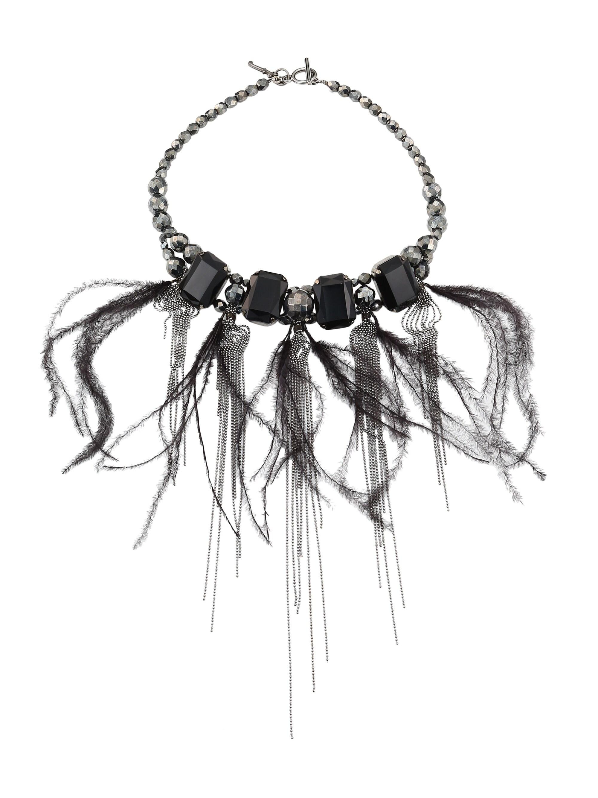 Fabiana Filippi Women's Stone & Feather Fringe Necklace