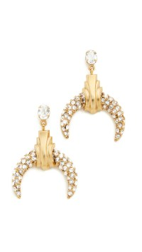 Elizabeth cole Rosa Earrings in Metallic