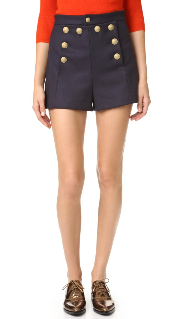 Red Valentino Sailor Shorts In Blue Lyst