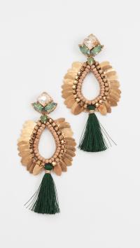 Lyst - Deepa Gurnani Deepa By Lieu Earrings in Green