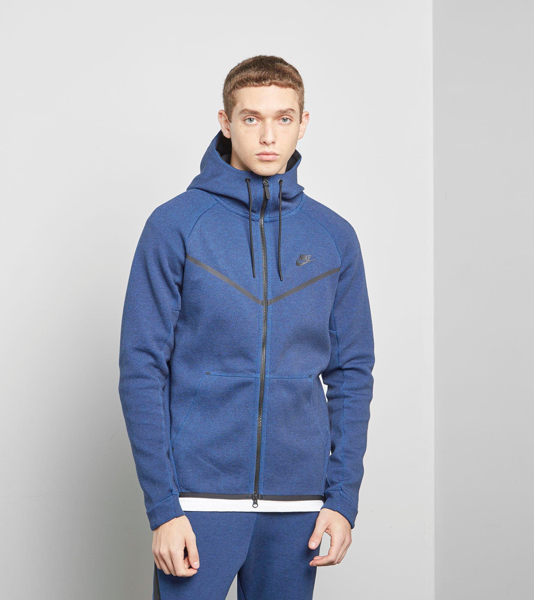abb02bafd43872 Lyst Nike Tech Fleece Hoody In Blue For Men