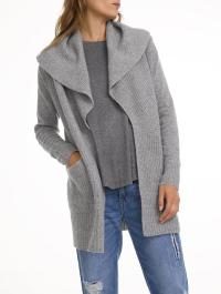 Lyst - White + Warren Cashmere Shawl Collar Coatigan in Gray