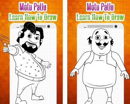How To Draw Characters Of Motu Patlu Easy Steps 1 0 Apk Download For