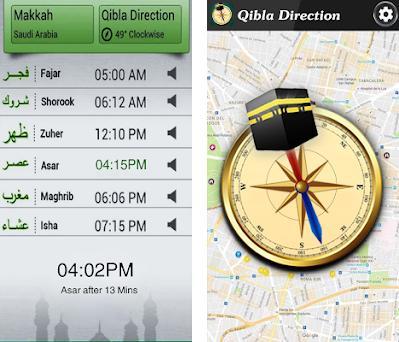 Qibla Direction Map on