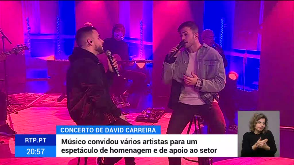 David Carreira - concerto - online - assistir - dueto - Diogo Piçarra - Ana Moura -