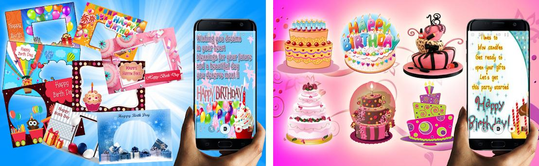 Birthday Wishes Photo Editor Preview Screenshot