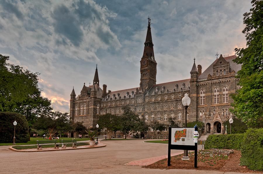 Georgetown University. Washington DC | HDR creme