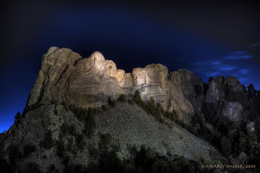 Mount Rushmore At Night  HDR creme