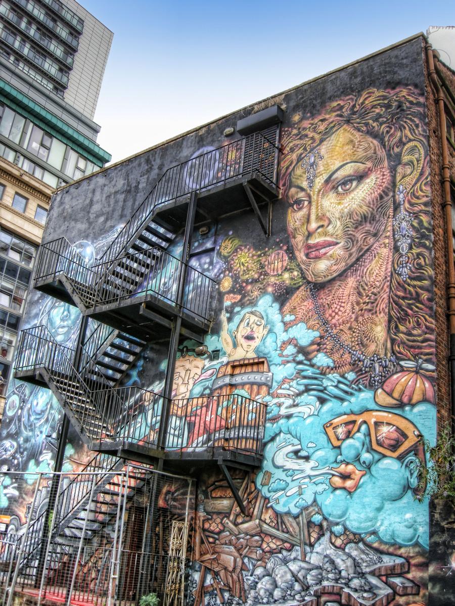 Urban Art Manchester England Hdr Creme
