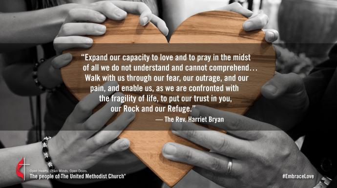 Photo illustration of prayer by the Rev. Harriet Bryan. Courtesy Gisela Merkuur, Pixabay.com.