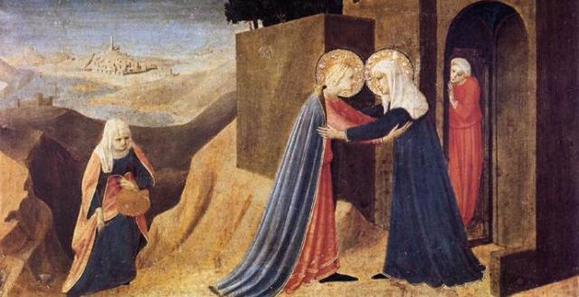 The Visitation by Fra Angelico