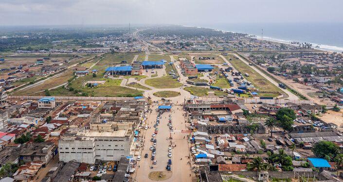 La frontière Bénin-Nigeria