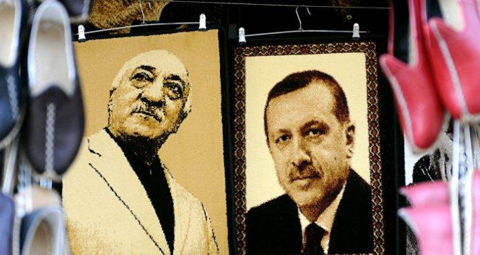 Les photos d'Erdogan et de Gulen